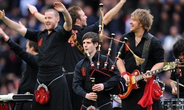 Red Hot Chilli Pipers the band who rocks with bagpipes!