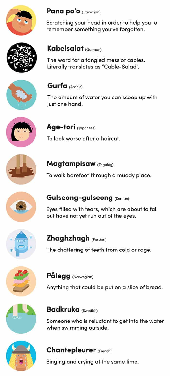 inlingua Edinburgh - infographic - 10-cool-words-that-dont-exist-in-english