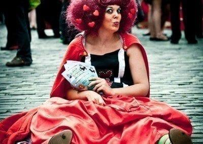 Fringe Festival Edinburgh street-performers-870119 by Luxstorm via pixabay - Public Domain