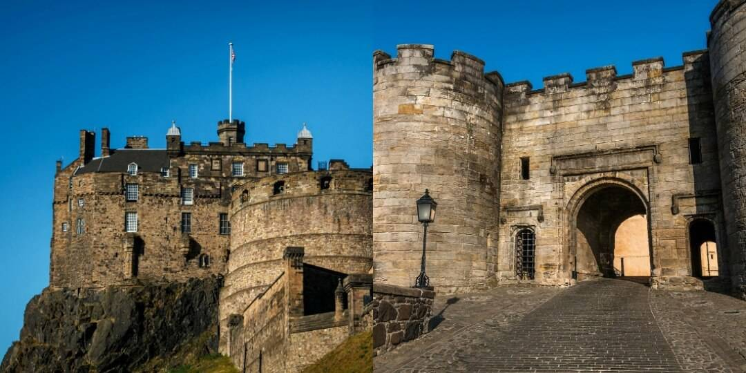 visiting stirling and edinburgh castle