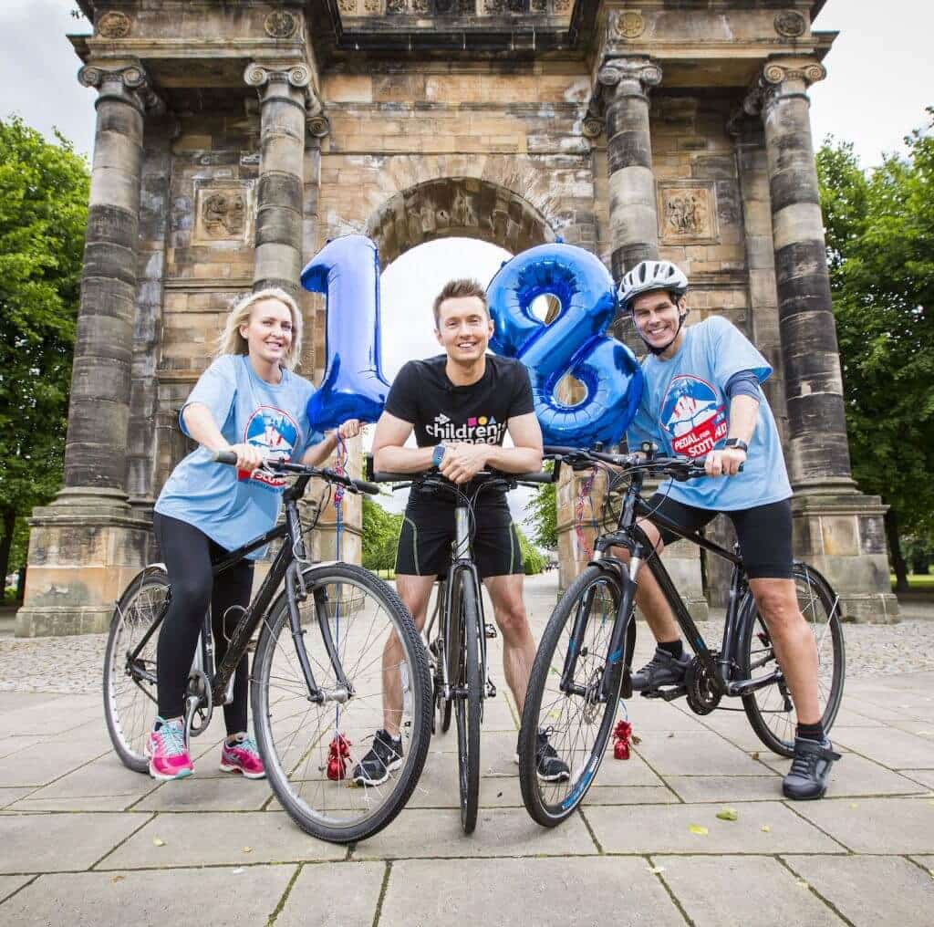 21/06/16 - PIC RODDY SCOTT 2016 Pedal For Scotland Launch with Sean Batty, Adele Cunningham and Robin Galloway .