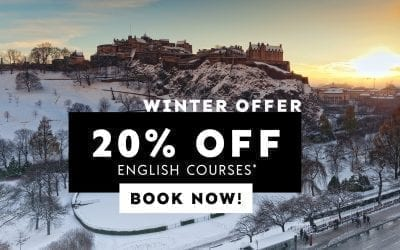 This winter study English in Edinburgh for less with 20% off!