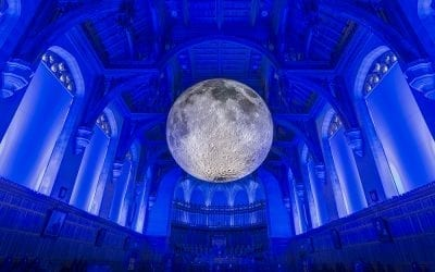 The Moon like you have never seen it before at St.Giles Cathedral