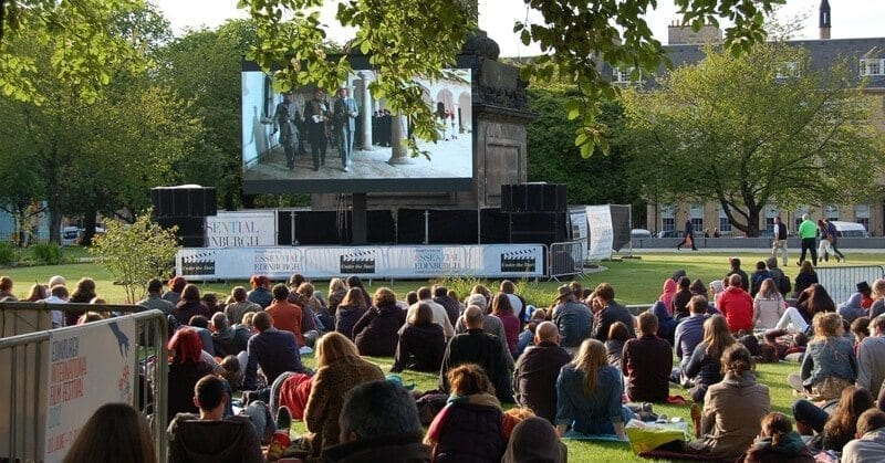 Saint Andrews Square - Film in the city 2015 - Outdoor cinema in Scotland - United Kingdom 3