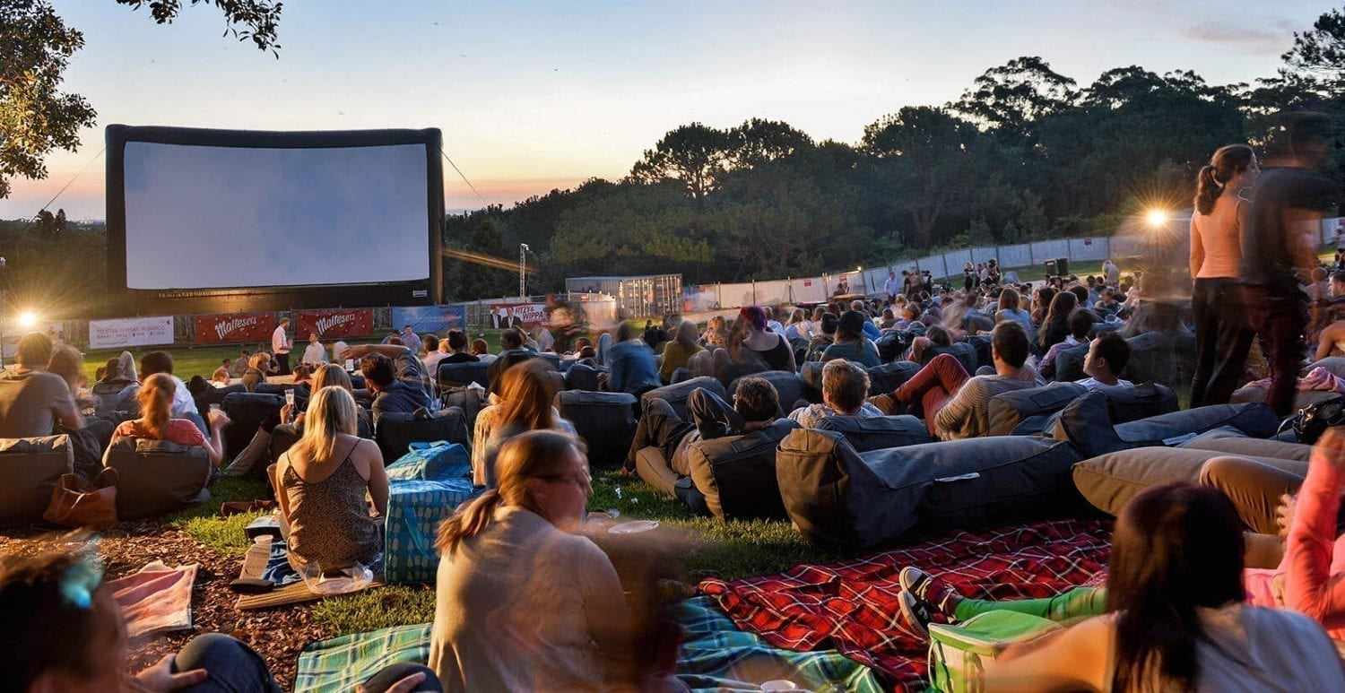 guests attend Maltesers Moonlight Cinema - Anchor Man 2 screening