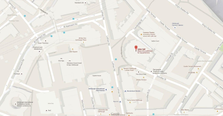 inlingua Edinburgh - Edinburgh international Festival - Usher Hall - Harmonium Project 2015 - MAP